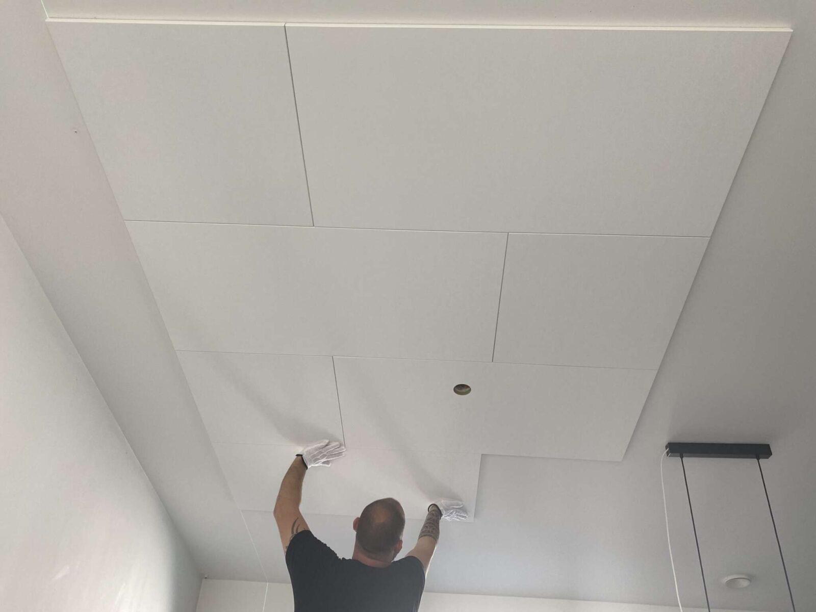 lyddæmpende akustik loft til op limning